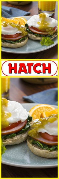 In New Mexico when we do breakfast we GO ALL OUT! This is the best dang Eggs Benedict Breakfast you'll ever munch on!   Get this Recipe at HatchChileCo.com | Hatch Chile Co.
