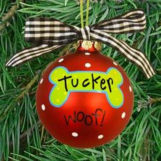 Because pets are family too! I love this ornament idea for my dog.