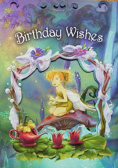 Disney Tinker Bell Pixie Hollow Fairy Rani Prilla Lily Birthday Greeting Card | eBay
