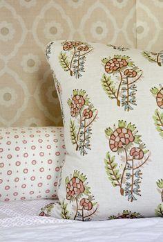 Little Girls Room pillow details; Rachel Halvorson Designs; photo by Paige Rumore