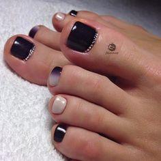 Nail Polish Designs for Feet, Toe Nail Designs Simple Toe Nails, Summer Toe Nails, Pedicure Designs, Toe Nail Designs, Nails Design, Red Nails, Hair And Nails, Cute Nails, Pretty Nails