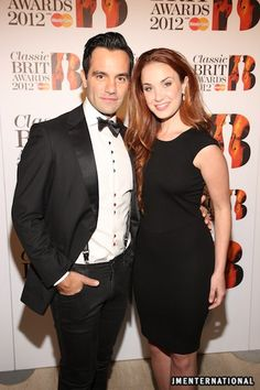 Ramin Karimloo and Sierra Boggess at the 2012 Classic Brit Awards