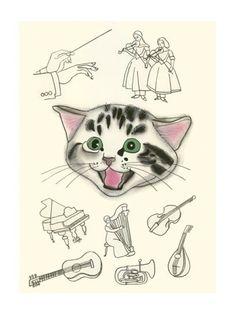 zingen katten trekken aan mijn hart snaren.  zo schattig.  door marblauinfinit