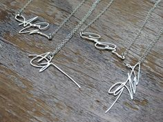 custom necklaces made from your signature (or maybe a childs' scribble?)