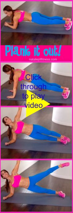 HOW TO do a PLANK! Click through to watch the video