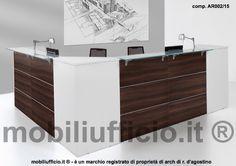 comp. AR02/15 #reception doppio angolo e doppia postazione ufficio operativo.