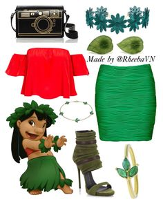 """""""Lilo 1"""" by rheebavn ❤ liked on Polyvore featuring Disney, NLY Trend, Forever New, Cult Gaia, Giuseppe Zanotti and Finn"""