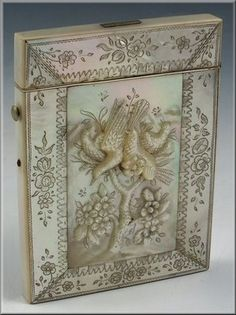 Fine 19th Century Chinese Carved Mother of Pearl Card Case | eBay