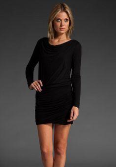 $311 NWT Beautiful THEORY Heart Lavanien Black Dress, sz S #Theory