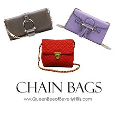 Who doesn't love a designer chain bag up to 75% off? www.queenbeeofbeverlyhills.com