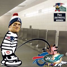 Can't wait for Tom to come back and use the entire league as his personal urinal cake! Patriots Memes, Patriots Team, New England Patriots Football, Football Memes, Football Team, New England Patroits, Go Pats, Superbowl Champions, Tom Brady