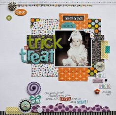 """""""Trick or Treat"""" Bella Blvd, Too Cute to Spook collection. By Diane Payne for Bella Blvd."""