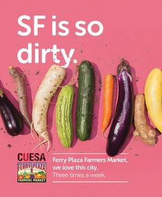 We're on Muni! Look for our new ads for the Ferry Plaza Farmers Market on SF buses.