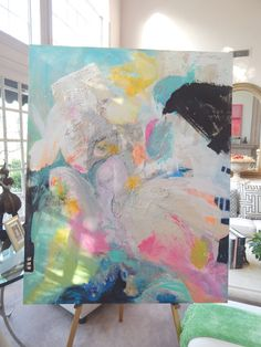 Huge original abstract paintings by Pamela Qarbaghi sold ! on Etsy - - Abstract Expressionism, Oeuvre D'art, Painting Inspiration, Collage Art, Modern Art, Art Projects, Art Drawings, Canvas Art, Abstract Paintings