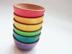 Color Sorting Rainbow Bowls - Montessori and Waldorf Inspired Matching and Sorting Materials