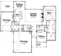 House Plan 66567 - European , House Plan with 3124 Sq Ft, 4 Bed, 5 Bath, 3 Car Garage House Plans And More, Dream House Plans, House Floor Plans, Dream Houses, Farmhouse Homes, Country Farmhouse, Architectural Design House Plans, Architecture Design, Floor Plan Layout