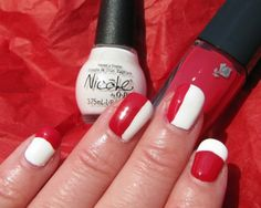 Fashion Magazine Beauty Panel Canada Day Nail Looks! White Manicure, Nicole By Opi, Happy Canada Day, White Polish, Beauty Magazine, Long Weekend, Nail Ideas, Manicure Ideas, Red And White