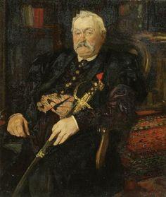 Józef Mehoffer, Marschall Milkowski, 1885, Öl auf Leinwand, 106 x 90 cm, Belvedere, Wien, Inv.-Nr. 7758\nBelvedere, Wien