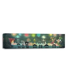 Look at this A Mad Tea Party Limited Edition Gallery-Wrapped Canvas by Disney Fine Art Canvas Signs, Canvas Art, Disney Fine Art, Disney Treasures, Disney Kunst, Thomas Kinkade, Tea Party, Mad, Wrapped Canvas