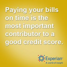 Paying your bills on time is the most important contributor to a good credit score. http://www.experian.com/credit-education/improve-credit-score.html#SomeSuggestions