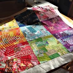 Crafting...: Quilting a spiral ~ what worked for me