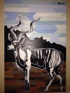 Elzanne Singels- Kudu on the plain (2014)