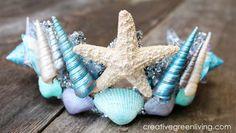 Make the perfect seashell tiara or crown for your little mermaid princess this Halloween using Martha Stewart Craft supplies!