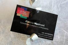 Clear transparent plastic business cards