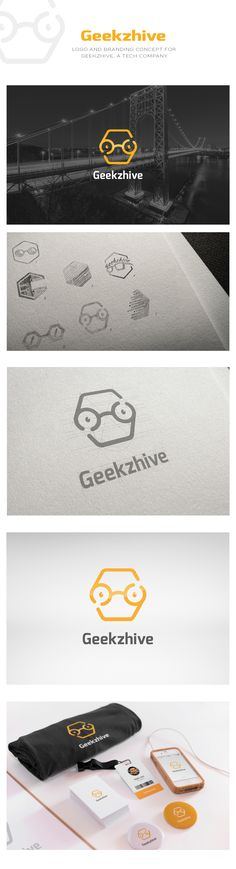 """Check out our @Behance Project: Geekzhive - logo """"https://www.behance.net/gallery/51478723/Geekzhive-logo"""""""