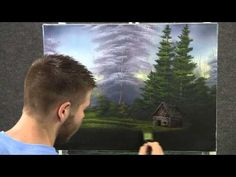 Paint with Kevin Hill - Cabin near the Lake wet on wet HD Oil Painting Lessons, Acrylic Painting Techniques, Painting Videos, Painting Tutorials, Art Techniques, Kevin Hill Paintings, Bob Ross Paintings, Landscape Art, Landscape Paintings
