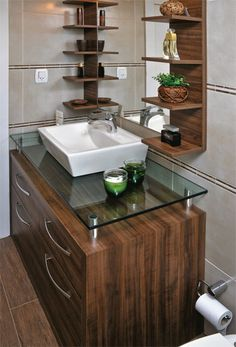 Bathroom Furniture Ideas - Whether you are prettying up a tiny powder or overhauling a grand master, the very ideal way to begin is to get inspired. Washroom Design, Bathroom Vanity Designs, Bathroom Design Small, Bathroom Interior Design, Kitchen Interior, Bathroom Modern, Washbasin Design, Home Design Living Room, Bathroom Furniture