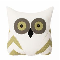 Tootsie Owl Pillow Green, $28, now featured on Fab.