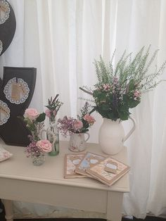 Wedding - Vintage Tea Party special flower arrangement for the grandmothers desk