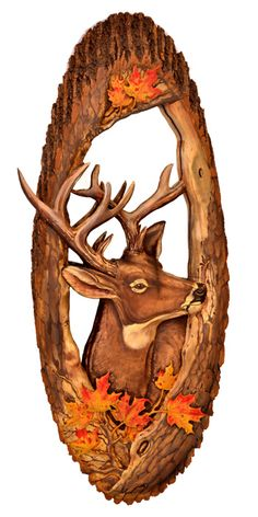 Hand Carved Wildlife Mirror with Natural Bark Edge Item Number: MR05962 $895 Custom Made to Order with Animal of Your Choice