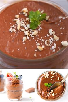 Low-Carb, Keto, Sugar-Free Chocolate Mousse Recipe made with four simple ingredients, this mousse i Atkins Recipes, Ketogenic Recipes, Low Carb Recipes, Sugar Free Chocolate, Chocolate Recipes, Chocolate Fondue, Chocolate Mousse Cake Filling, Low Carb Smoothies, Low Carb Keto