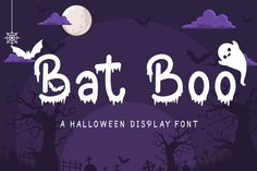 Bat Boo - A Halloween Display Font #halloween #witch #halloweenfont Halloween Fonts, Halloween Boo, Halloween Crafts, Halloween Displays, Diy Halloween Decorations, Pua, Free Fonts For Cricut, You Are Amazing, Commercial Use Fonts