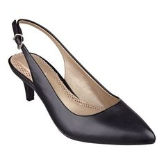 """Meet Liselle, the newest member of our incredibly comfortable Anti-Gravity collection. These pointy toe, mid-heel slingback dress shoes are lightweight with a flexible outsole that offer superior comfort and traction. Breathable mesh footbed for all-day, into-the-evening comfort. Available in medium widths and wide widths. 2 1/4"""" heels."""