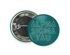 Standard size round pin back style button. Engraved Tumblers, Sigma Tau, Bid Day, Coupon Codes, Different Colors, Size 2, Buttons, Style, Knots