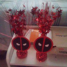 Deadpool balloon holders