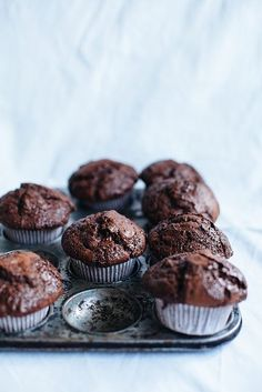 Double chocolate muffins by Call me cupcake.