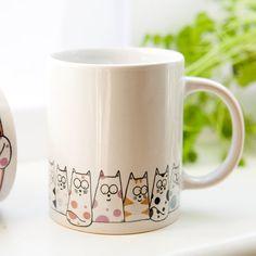 Cat mug  Cuppa Cats coffee mug tea mug by DianaParkhouse on Etsy, £9.50