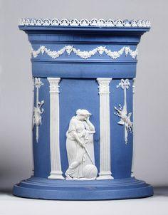 Jasperware Wedgwood Vase by John Flaxman, c. late 18th century, Staffordshire, England