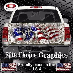 American Buck Camo Snow Truck Tailgate Wrap Vinyl Graphic Decal Sticker Wrap #UnbrandedGeneric