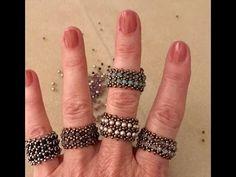 How to make beads using beads? - Interlace Beaded Bead & Tubular Herringbone Chain – A Bronzepony Beaded Jewelry Design – YouTub - Beaded Jewelry Designs, Jewelry Patterns, Beading Patterns, Handmade Jewelry, Bracelet Patterns, Beaded Jewellery, Necklace Designs, Bridal Jewelry, Beaded Rings