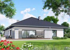 Projekt domu APS 314 od Archi-Projekt House Plans Mansion, My House Plans, Beautiful House Plans, Beautiful Homes, Modern House Design, My Dream Home, Gazebo, Exterior, Outdoor Structures