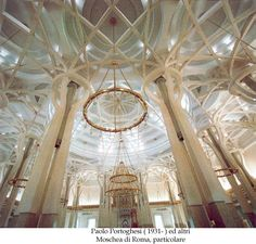 Moschea di Roma - Interno Islamic Art, Interior Architecture, Chandelier, The Incredibles, Exterior, Mosques, Ceiling Lights, Amazing, Calligraphy