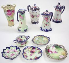 A Collection Of Japanese Gaudy Nippon Porcelain. Lot 152-3023