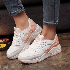 big sale 63e0b 266d7 2018 Fashion Trainers Sneakers Women Casual Shoes Air Mesh Grils Wedges  Canvas Shoes Woman Tenis Feminino
