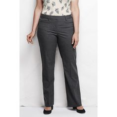 Lands' End Plus Size Wear to Work Trouser Pants ($89) ❤ liked on Polyvore featuring plus size fashion, plus size clothing, plus size pants, plus size, slim pants, lands end pants, plus size trousers and slim fit trousers