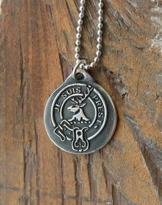 Je suis prest-Fraser of lovat-Buck-Stag wax seal fine silver pendant sterling silver necklace by ALMrozarka on Etsy Chunky Silver Necklace, Sterling Silver Necklaces, Silver Earrings, Silver Jewelry, Antique Wax, Leaf Jewelry, Girls Necklaces, Silver Bars, Wax Seals